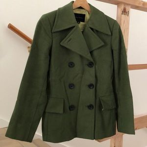 Lovely wool olive Green Banana Republic P Coat